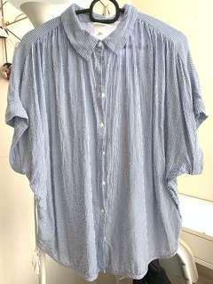 H&M wide short sleeves blouse