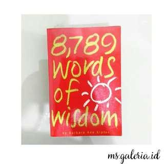 Buku 8789 Words of Wisdom