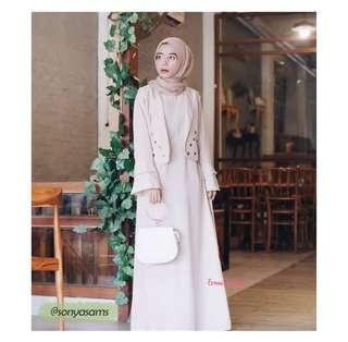 akasya dress mocca by erma hijab