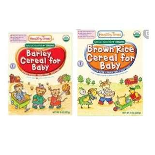 Healthy Times  Brown Rice  organic baby cereal . Infant cereal.  Jul / aug 2020 onwards. Multiples Qty available