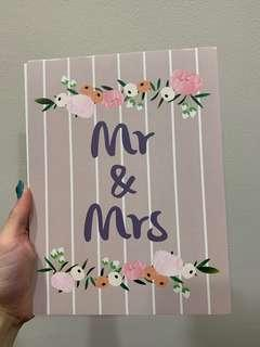 Mr and Mrs Print (Cream) from The Paper Bunny