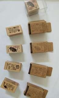 Wooden Stamps (Cat and The Poems of Leaf)