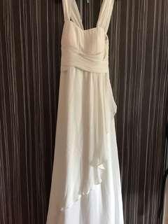White long dress for dinner