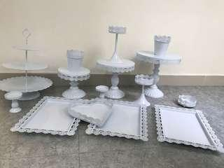 Desert Table Ware 15 pcs (Rental)