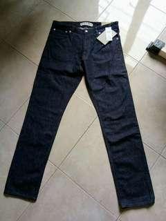 Celana jeans pria Lacoste authentic