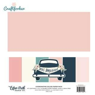 """🚚 ★Kit★ Just Married Solid Color Paper Pack, 12"""" x 12"""" Solid Cardstock Paper, Scrapbooking, Craft"""