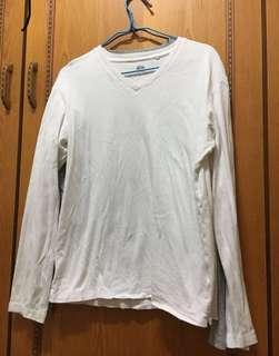 🚚 💙UNIQLO冬季棉T白色