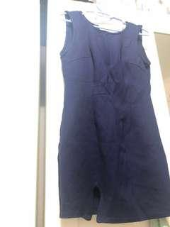 🚚 Stretchy navy blue dress