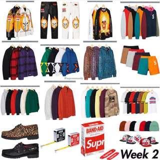 SUPREME SS19 WEEK 2 Pre Order