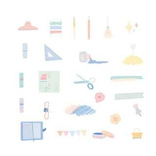 🚚 Elegant [Write Your Mind] Stickers Pack