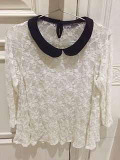 Peterpan blouse renda