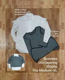 FREE SF Business chic layering blouses