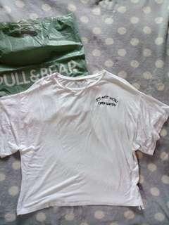 Pull&Bear white top
