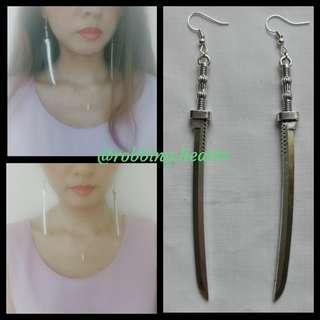 🚚 [In Stock] Handmade in SG Merciless Katana Sword Earrings