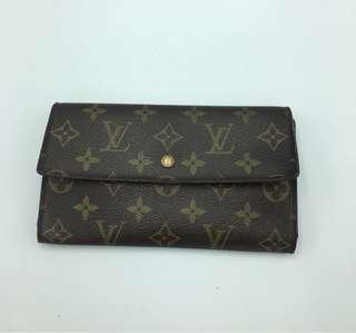 LV sarah trifold monogram wallet