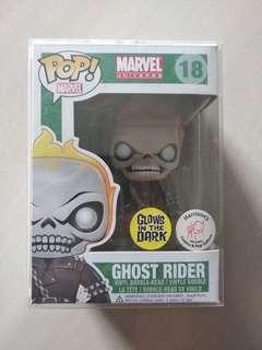 Funko Pop Ghost Rider glows in the dark