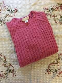 包郵 🌹$299 ➡️ $68  monki Top 玫紅色 豆沙色 冷衫 針織