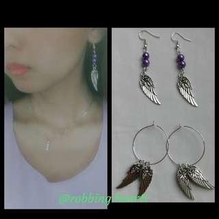 🚚 [In Stock] Handmade in SG Wings of Victory Earrings