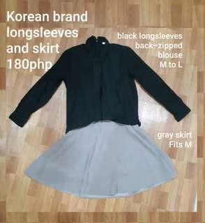 FREE SF Skirt and long sleeves