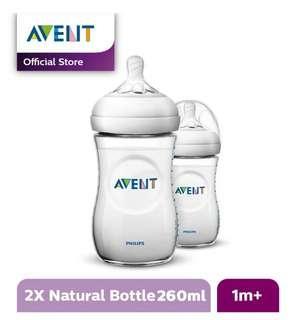 Botol Susu Avent / Philips Avent Natural Bottle 260ml Twin Pack (2pcs)