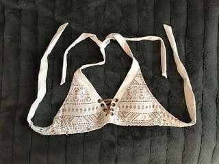 White Bathing Suit Bikini Top