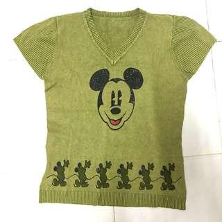Mickey mouse green old soul knitt