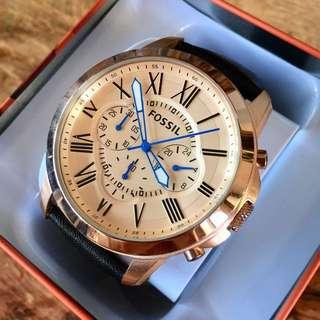 Fossil Grant Rose Gold Dial Chronograph Men's Watch