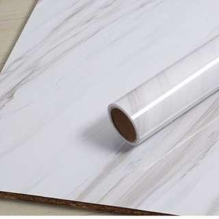 White Marble Countertop Coffee Table Sticker Home Decor