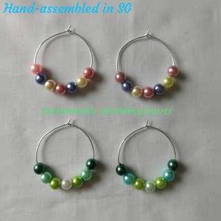 🚚 [In Stock] Handmade in SG Baby Girl Pearls / Exotic Green Beauty Earrings
