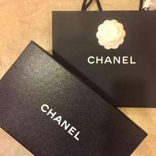 Authentic Chanel Paper Bag with Camellia Flower Ribbon Show