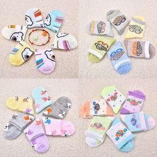 🚚 ✔️ 6 pairs Set  🌟PM for price🌟 🍀Baby Boy Girl Cute Cartoon Pinted Cotton Socks🍀