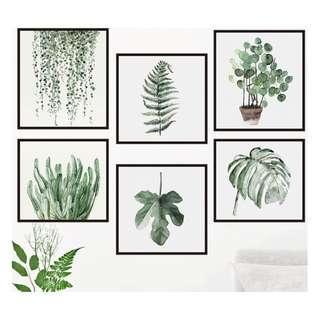 🚚 Plants Wall Decal Sticker Vinyl Mural Wallpaper Decor