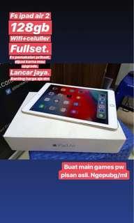 iPad air 2 gold 128gb wifi+celluler bagus lancar jaya murah