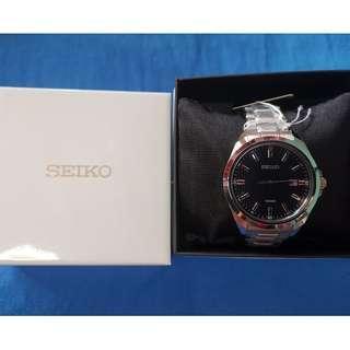 Seiko Analog Quartz Men's Silver Stainless Steel Bracelet Watch SUR275P1