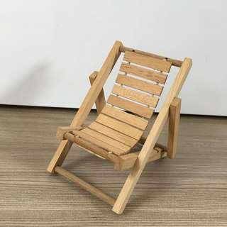 Wooden doll foldable chair / lounger beach collapsible