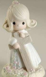 "Precious Moments Figurine -"" I believe in the old rugged cross"""