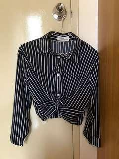 Crop Stripes Shirt