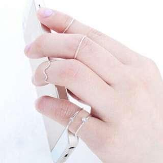 Wave Stack Knuckle Ring