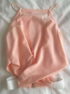 Peach party top