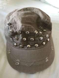 New Kpop Distressed Studded Cap