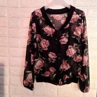 Sheer zip floral