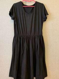 🚚 Black Babydoll Dress plus size