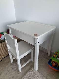 Desk with a chair