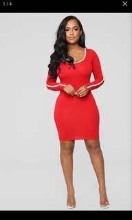 Fashionnova Red Hoodie Dress #FEBP55