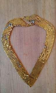 Vintage Gold chain mail collar