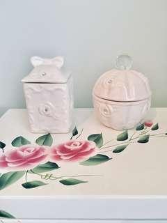 🌹白色 陶瓷 收納盒 飾品盒