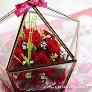 Preserved Flowers - Glass Box