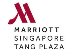 🚚 Marriott Singapore Tang Plaza Hotel Stay (Weekend)