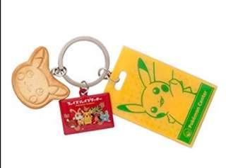 Pokemon Center 限定品 比卡超餅乾造型 鎖匙扣