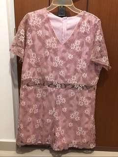 BN Plus Size Pink Romper